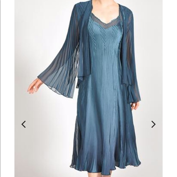 Komarov dress with jacket teal blue XL